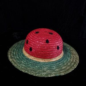Adorable childrens woven straw watermelon hat!